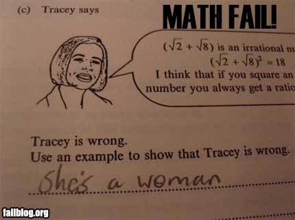 Friday 12th February FUNNY PICS Fail-math-woman