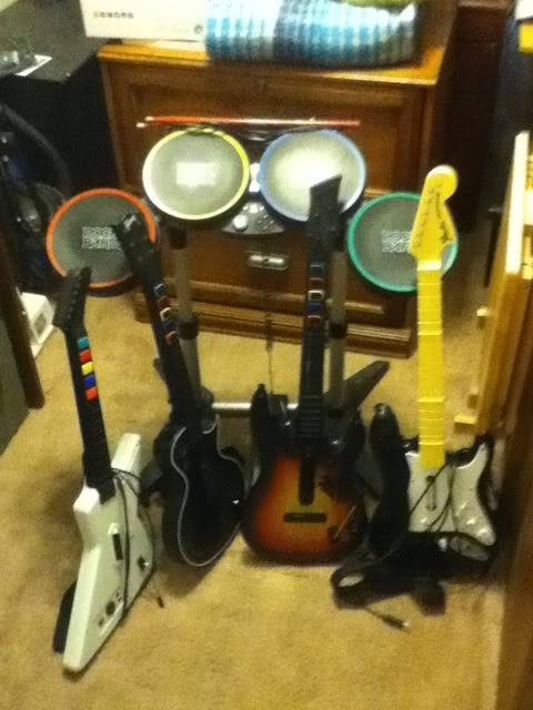 FS: Xbox 360 Guitar Hero/Rock Band Bundle