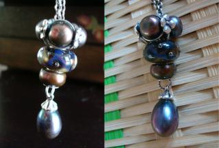 Short fantasy necklace designs Pearls