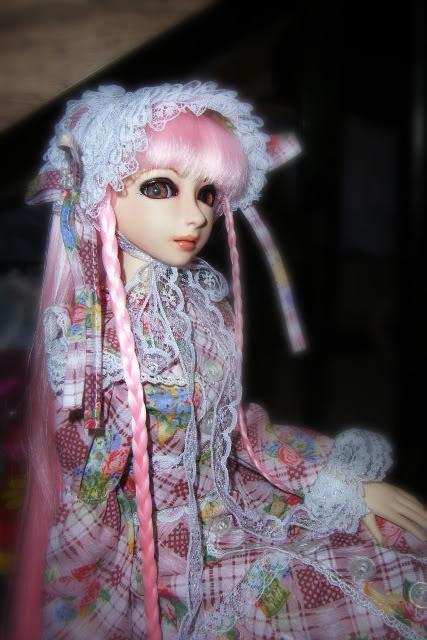 pink lolita dress + headress 1st-1
