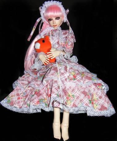 pink lolita dress + headress DOLLYU12u