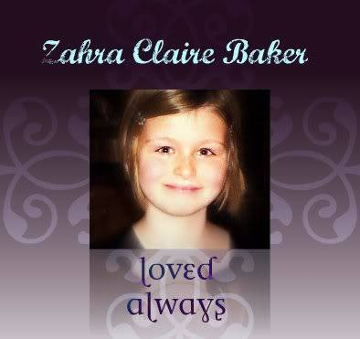 In Loving Memory Zahra Clare Baker ZahraBakerloved-1