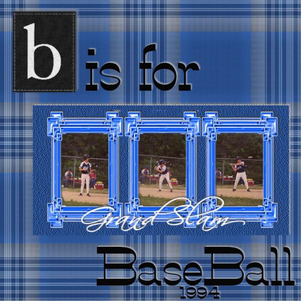 April '09 - Letter B BaseBall