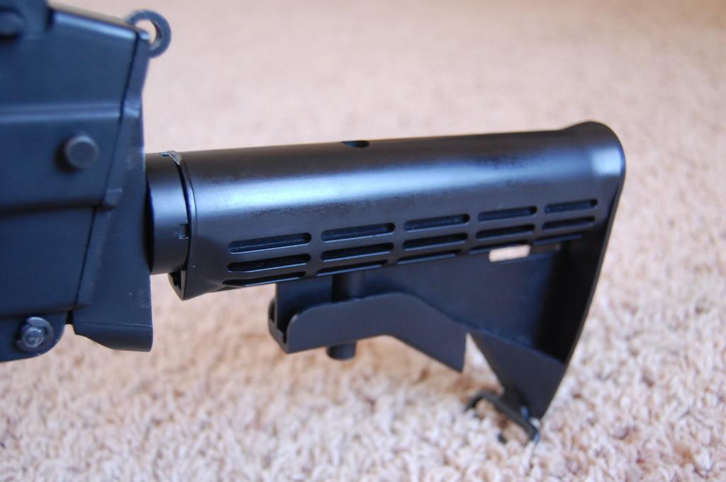 A&K M249 mods - Vert grip, M4 stock, RIS kit 56k bad DSC_4007