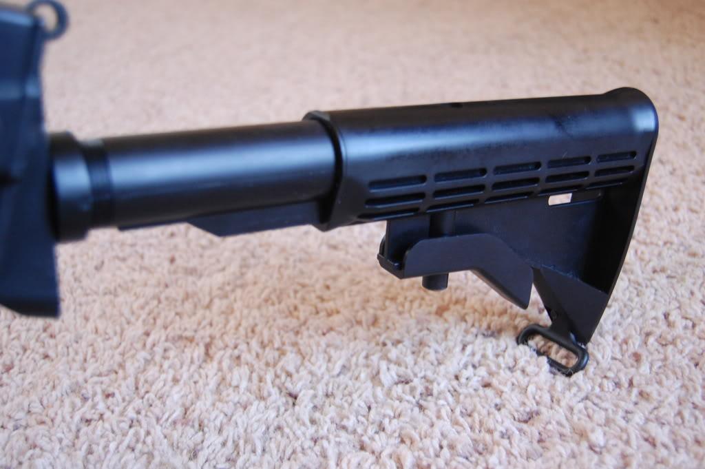A&K M249 mods - Vert grip, M4 stock, RIS kit 56k bad DSC_4008