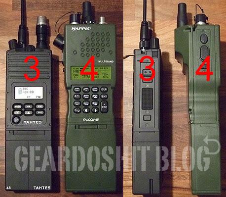 Carcasas AN/PRC-148 MBITR y adaptadores funcionales MBITRS-4-1