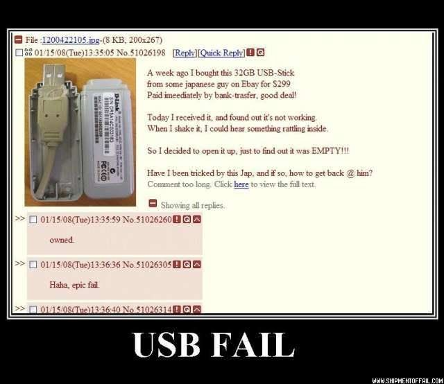 FAke USB nyahahaha Be Ware Usb