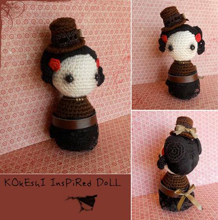 Peluches steampunk Kokeshi_inspired_doll_by_missdolkapots-d4oc38c