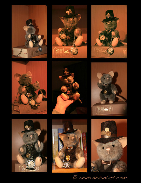 Peluches steampunk Plushie__philias_the_steampunk_mouse_by_avanii-d4gybxs