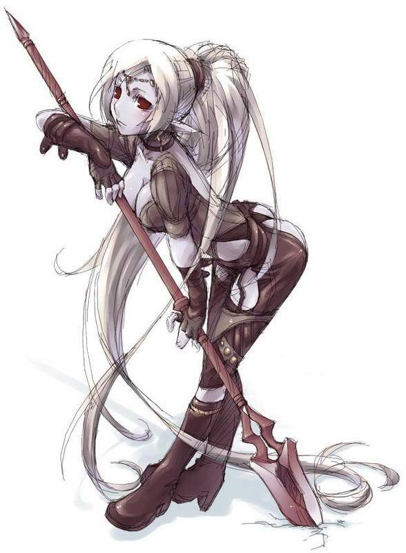 The Rouge Elf Silvia DarkElfSpear