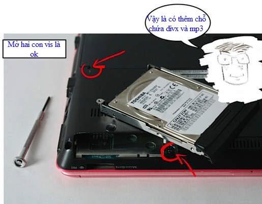 Cách nâng cấp Laptop 4