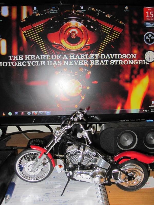 HARLEY DAVIDSON SOFTAIL CUSTOM 1/9 80s is back....!!!! IMG_0278
