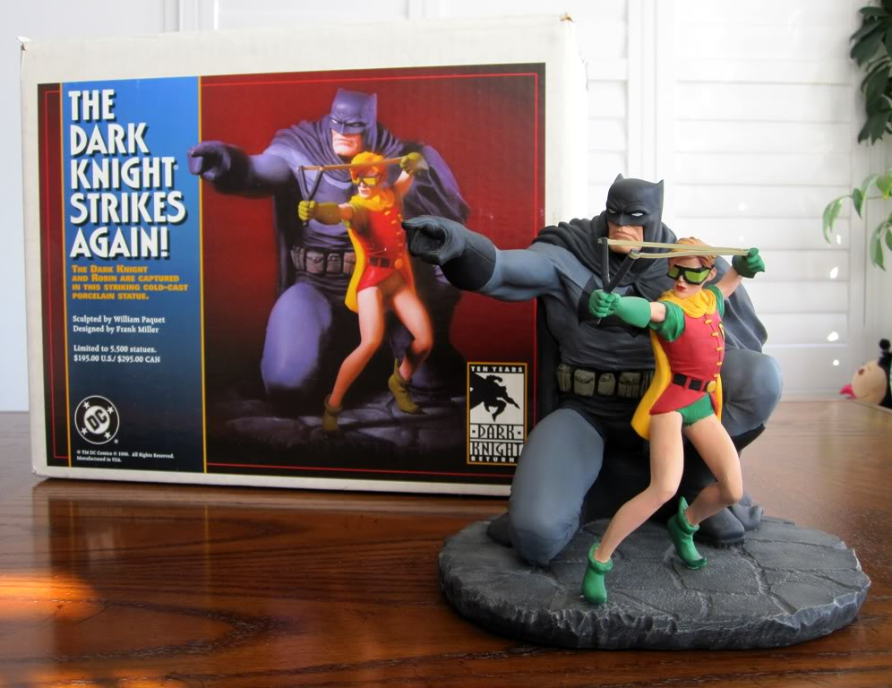 "Frank Miller's ""THE DARK KNIGHT STRIKES AGAIN"" statue (1996) Dk12"