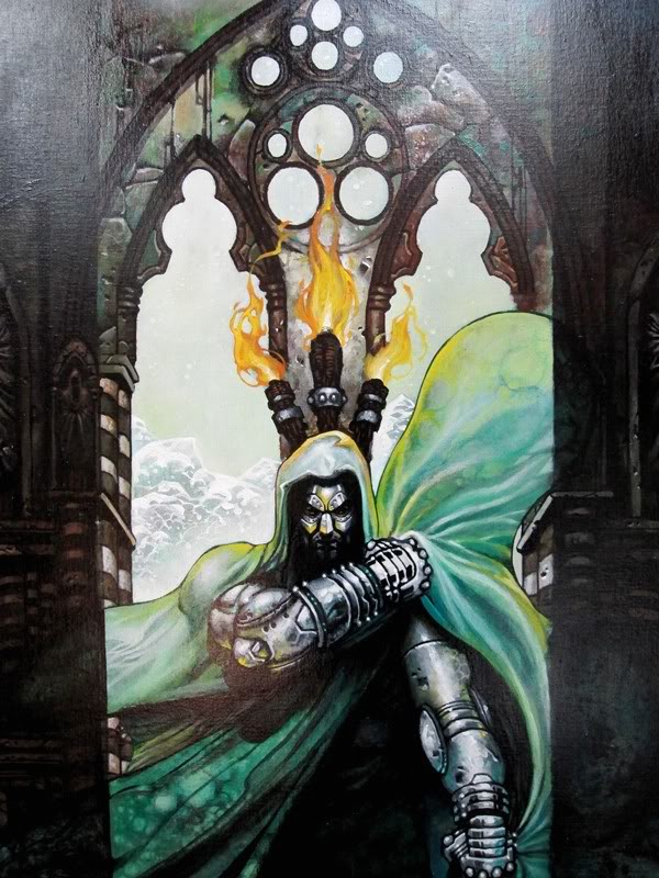 Doctor Doom Reigns Supreme - Painting by Simone Bianchi Doom1