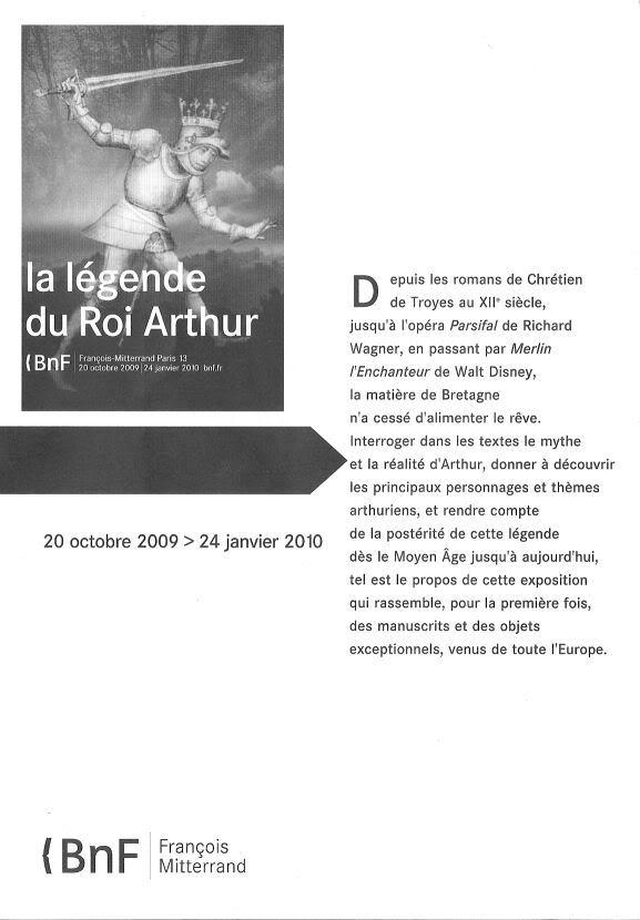 EXPO: « La légende du Roi Arthur » Livret01