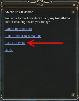 Life Crystals y Adventure Guildsman (Huevos De Raids) 1