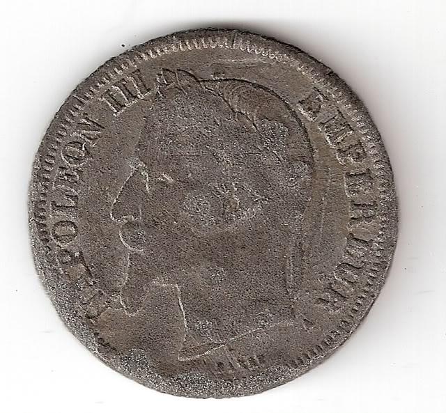5 francs de Charles X, 1828 2francos1866A