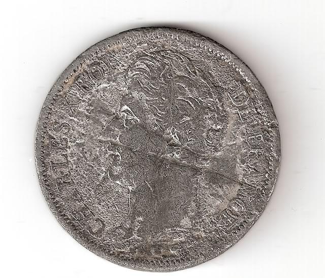 Francia, 5 Francos, 1828 (falsa de época). 5Francos1828anv