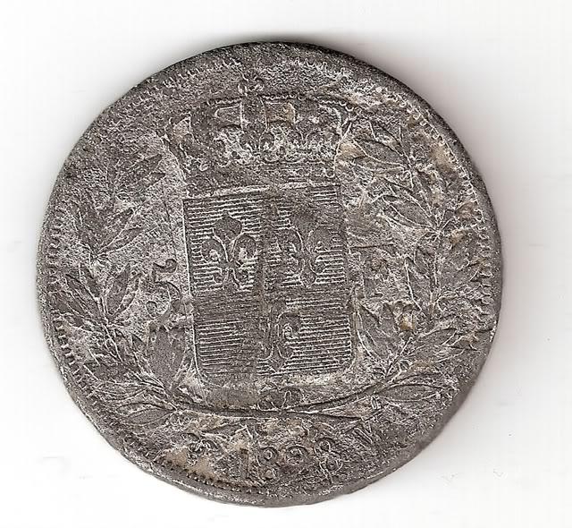 Francia, 5 Francos, 1828 (falsa de época). 5Francos1828rev