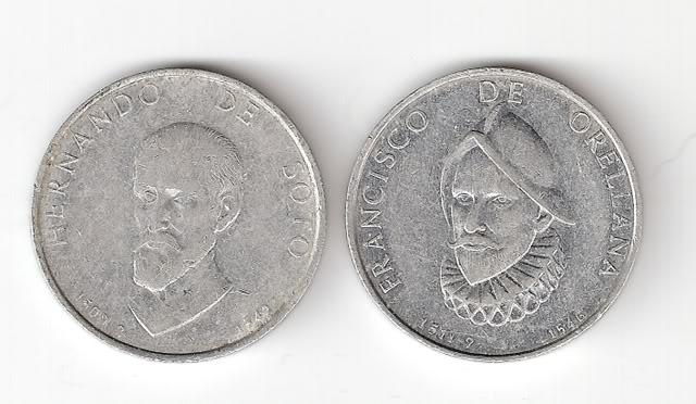 Jetones de aluminio de conquistadores españoles. Jetonesanv