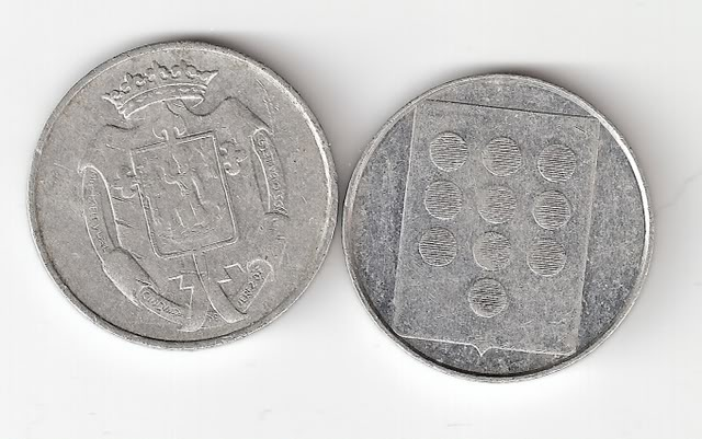 Jetones de aluminio de conquistadores españoles. Jetonesrev
