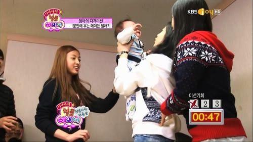 Co.Ed en tant qu'invités des T-ara à Hello Baby : Caps Huo