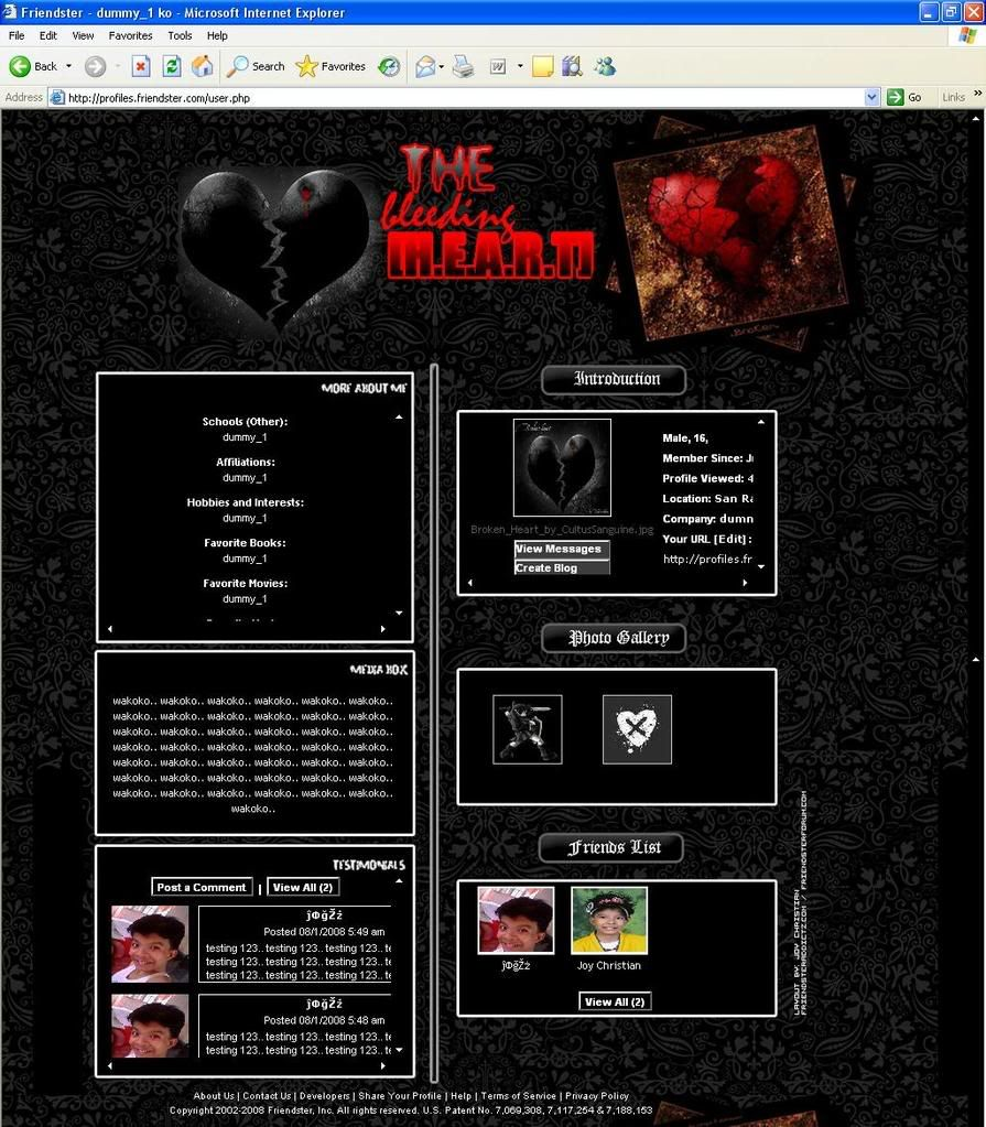 The Bleeding Heart - Plain CSS Bleedss