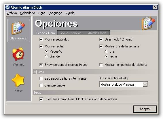 atomic alarm para windows (cambia el reloj de win) Atomicalarm
