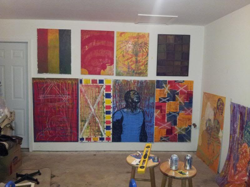 J.M. Hunter long-term Ambitious Art Dump! Indy_Hunter_studio_wall1_zps68027d61