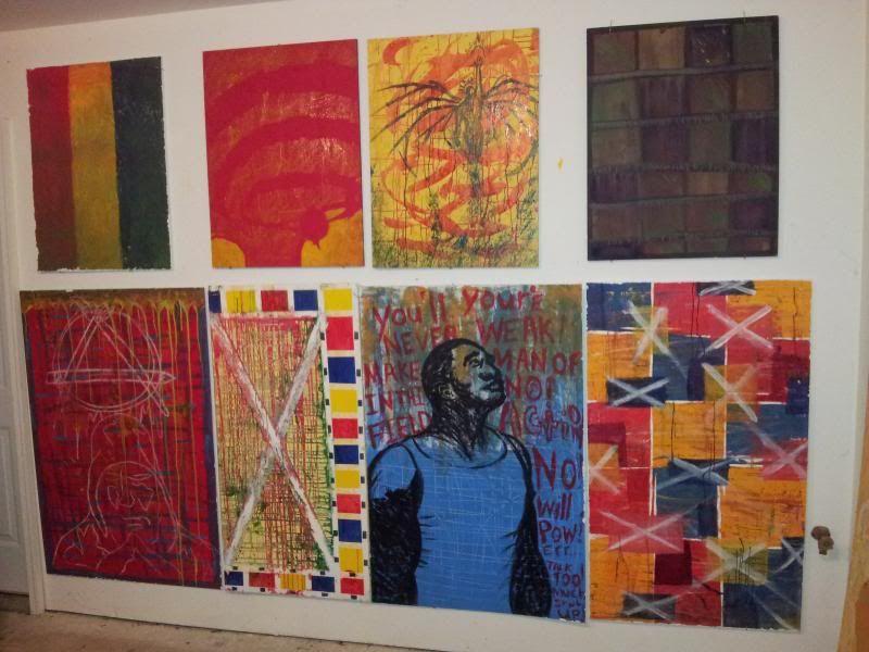 J.M. Hunter long-term Ambitious Art Dump! Indy_Hunter_studio_wall2_zps956a6b04