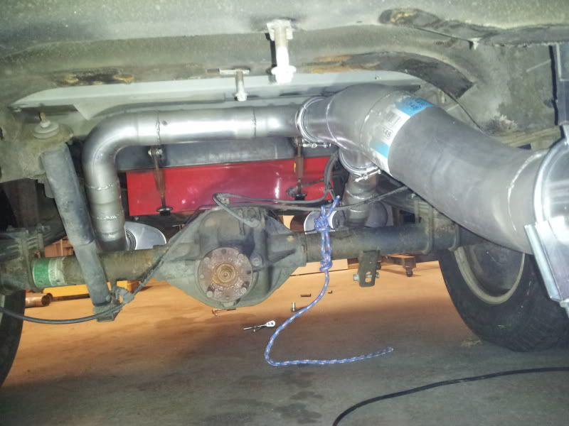 2003 Ford F150 Supercrew -- Roller -- Street/Race Modified 2011-12-30--ExhaustSystemFromturbobacktobumper12