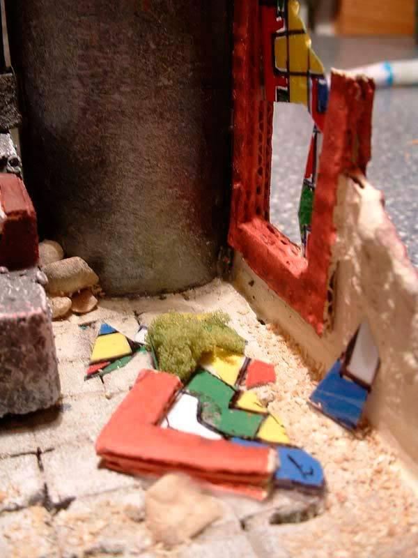 Templo Ruinoso (Maqueta) Vidriera-rota