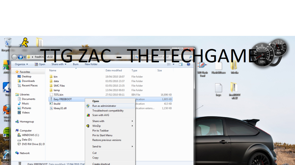 How To Install Freeboot-----With Images, TTG Zac! 12