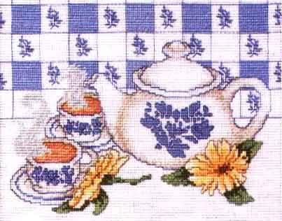 Juego de Cocina bordado en tonos azules - un té calentito!!!! Tea-pic