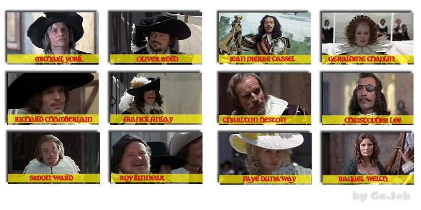 Les trois mousquetaires - 1973 Persosmousquetairesfilm