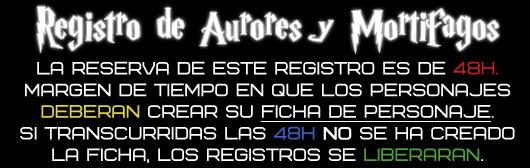 Registro de Aurores & Mortífagos R10