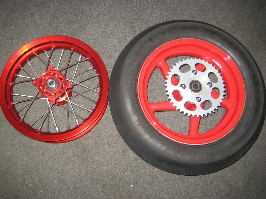 """CRF150R 12"""" wheel set for sale. Wide alloy rear IMG_0187"""