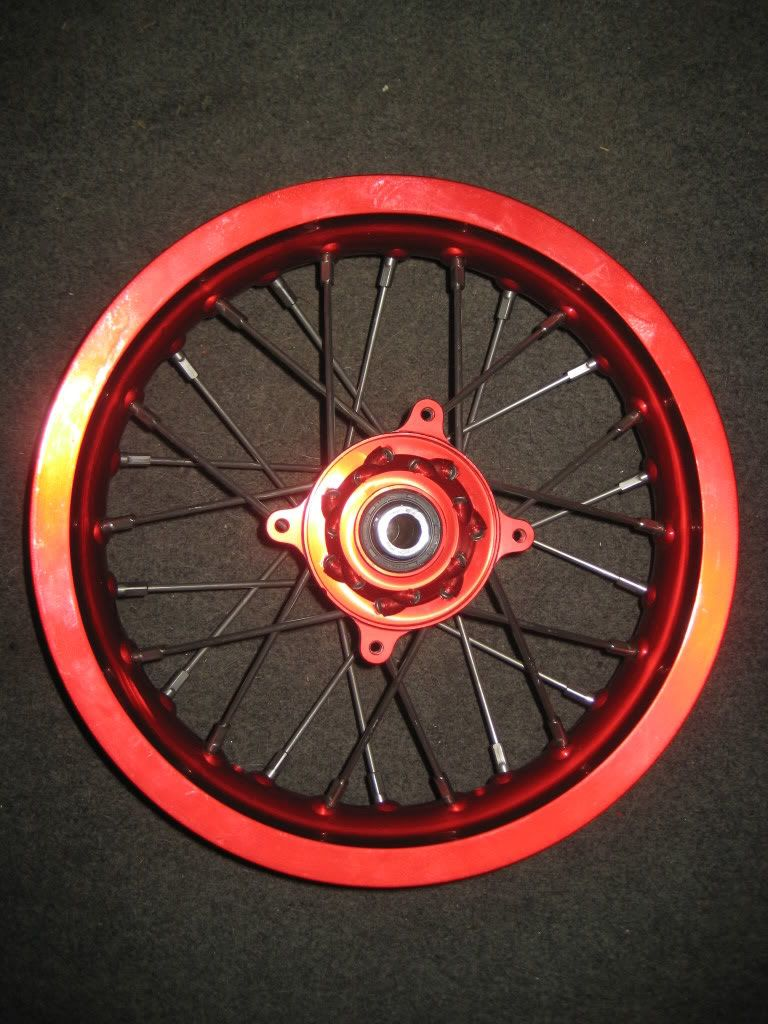 """CRF150R 12"""" wheel set for sale. Wide alloy rear IMG_0189"""