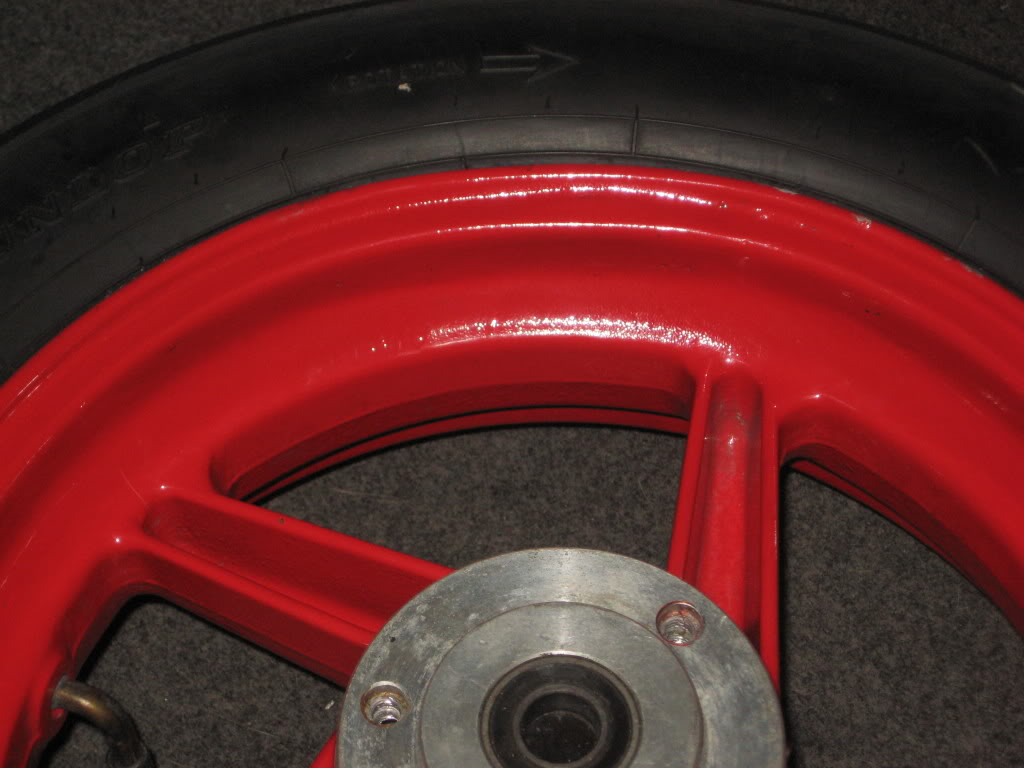 """CRF150R 12"""" wheel set for sale. Wide alloy rear IMG_0191"""