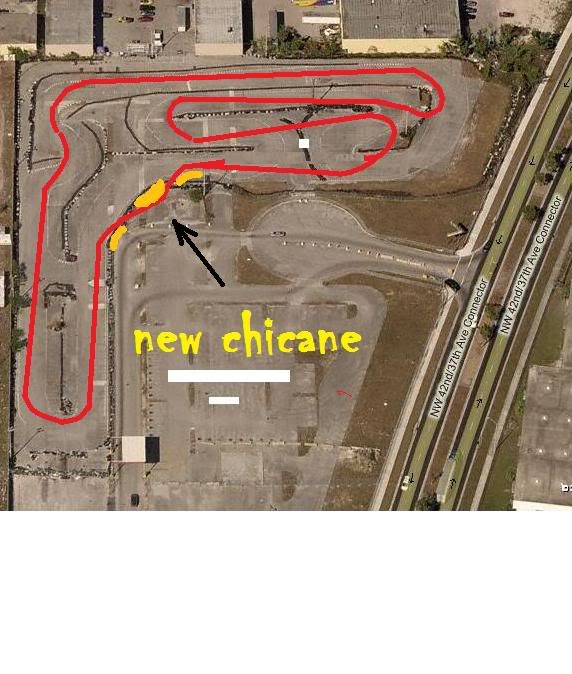 Bird's eye view of old track layout Miaminewlayoutpaint