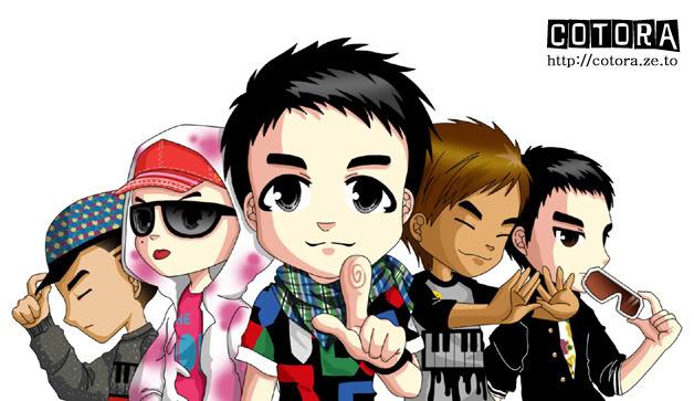 BigBang và các nhân vật hoạt hình Hoathinh1