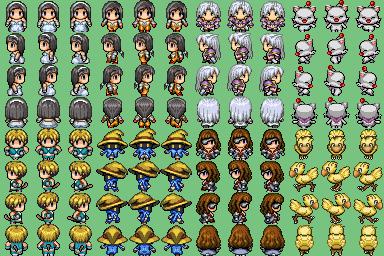 Charas Final Fantasy FFIXPinedaVX
