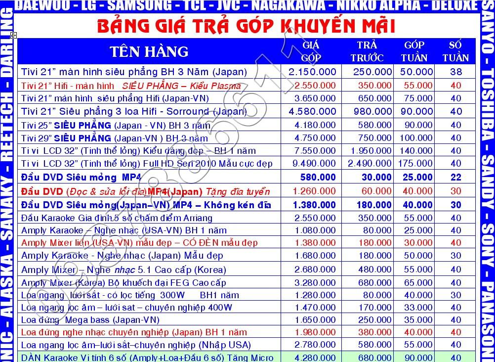 [BAN TRA GOP] Tivi, Tu lanh, May lanh... Dien may-Dien lanh-Dien Gia Dung 3-7