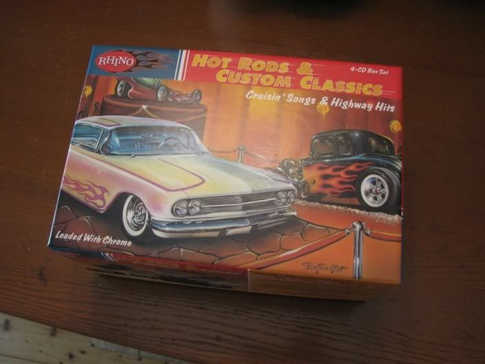 """Hot Rods and Custom Classics"" cruising songs, 4 CD box set SOLD Stuffforsale003"