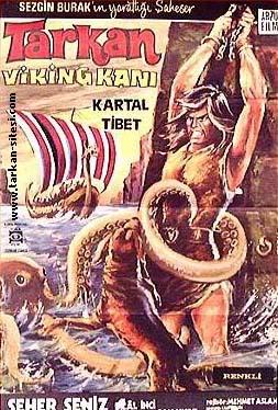 """Turkish """"Conan"""" movie, from 1971 TARKAN_Viking_Kani_filmafis"""