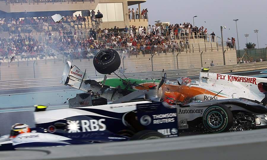 Near miss for Micheal Schumacher Michael-Schumacher