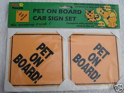 Item 14 - Pet on Board Signs PetonBoard