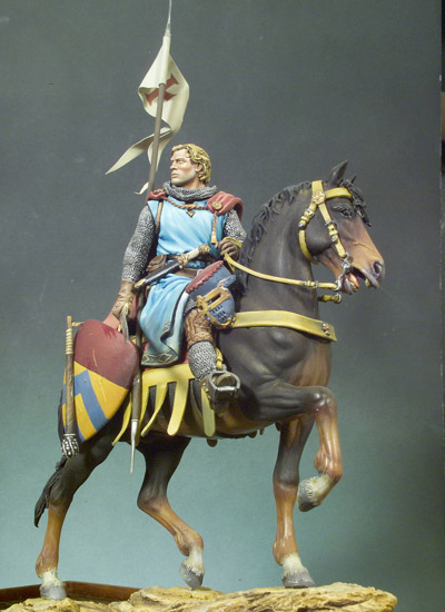 Crusader Knight c.1250 (Mounted) -  Andrea Miniatures 90mm Cruzader_zpse55b9092