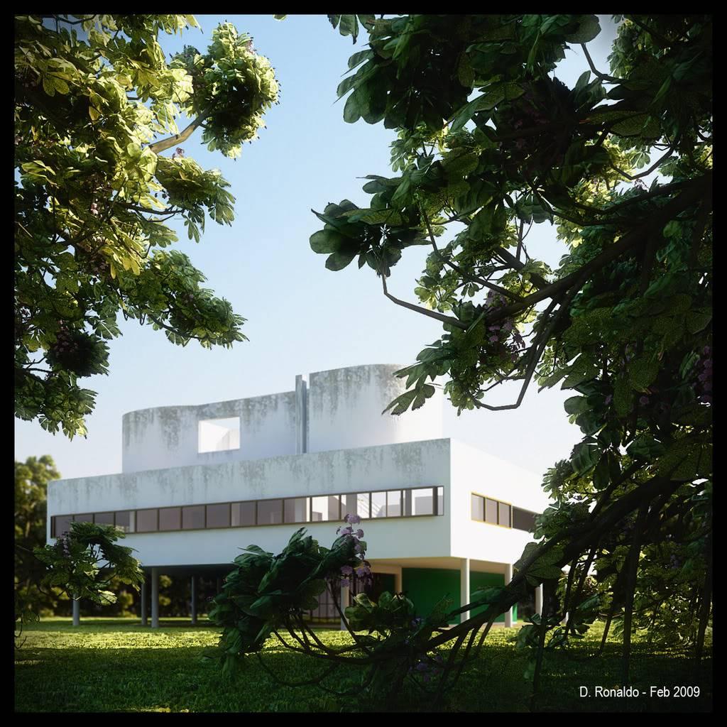 DDR : VILLA SAVOYE - LE CORBUSIER Villa-Savoye