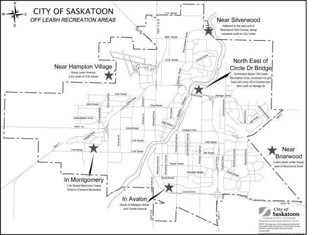 Off Leash Park Map - Saskatoon Off_Leash_Parks